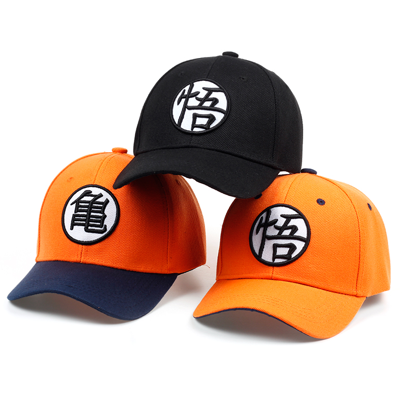 2017 High Quality Cotton Dragon Ball Z Goku Baseball Caps Hats For Men Women Anime Dragonball Adjustable HipHop Snapback cap Hat style top quality d9 reverse baseball five pointed star last kings hiphop snapback sport caps