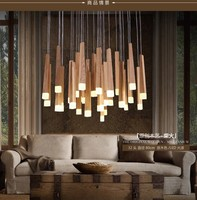 American country style pendant lights wood pendant lamps led warm lighting fixtures for home decorative house garden readingroom