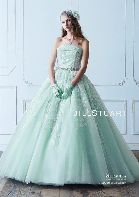Strapless sequin lace crystals ball gowns mint green wedding dress strapless sequin lace crystals ball gowns mint green wedding dress with color detachable bow back bridal junglespirit Image collections