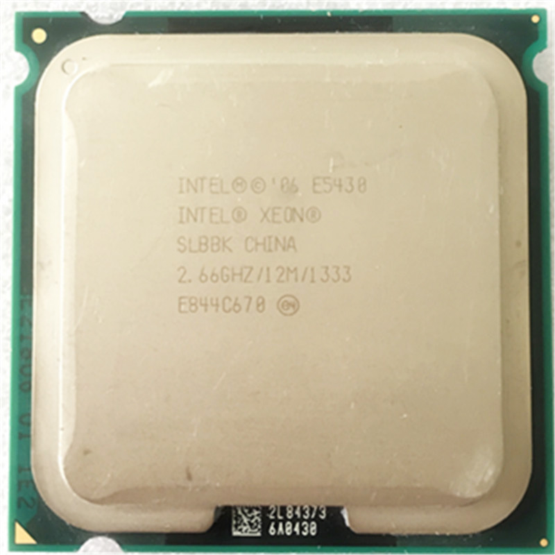 XEON E5430 <font><b>CPU</b></font> 2.66GHz /LGA771/L2 Cache 12MB/Quad-Core/FSB 1333MHz/45nm/ Works on some LGA 775 mainboard no need <font><b>adapter</b></font> image