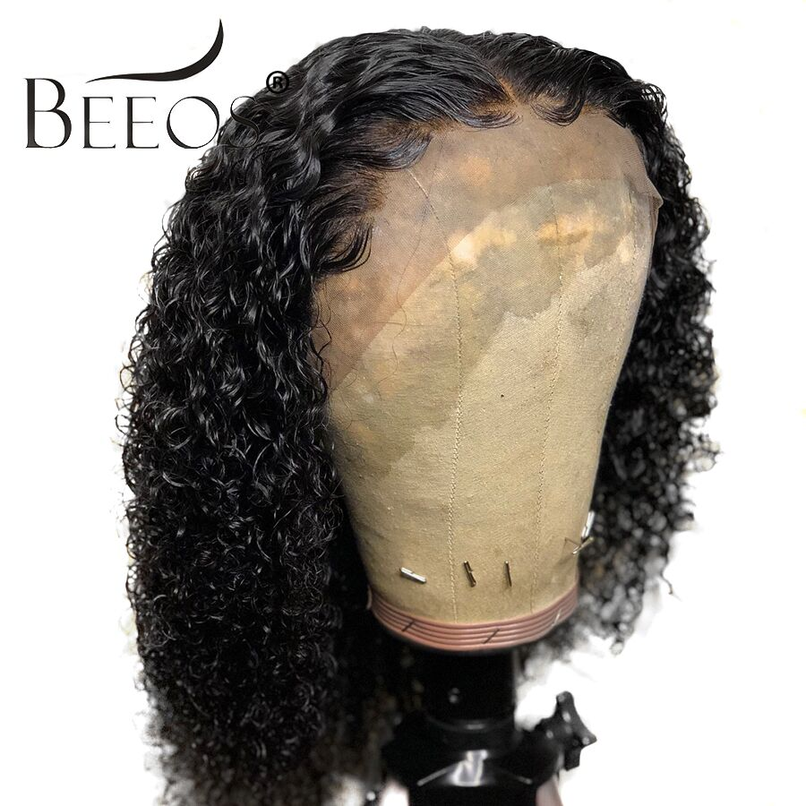 Beeos Curly 360 Lace Frontal Wig Pre Plucked With Baby Hair Bleached Knots Brazilian Hair Natural