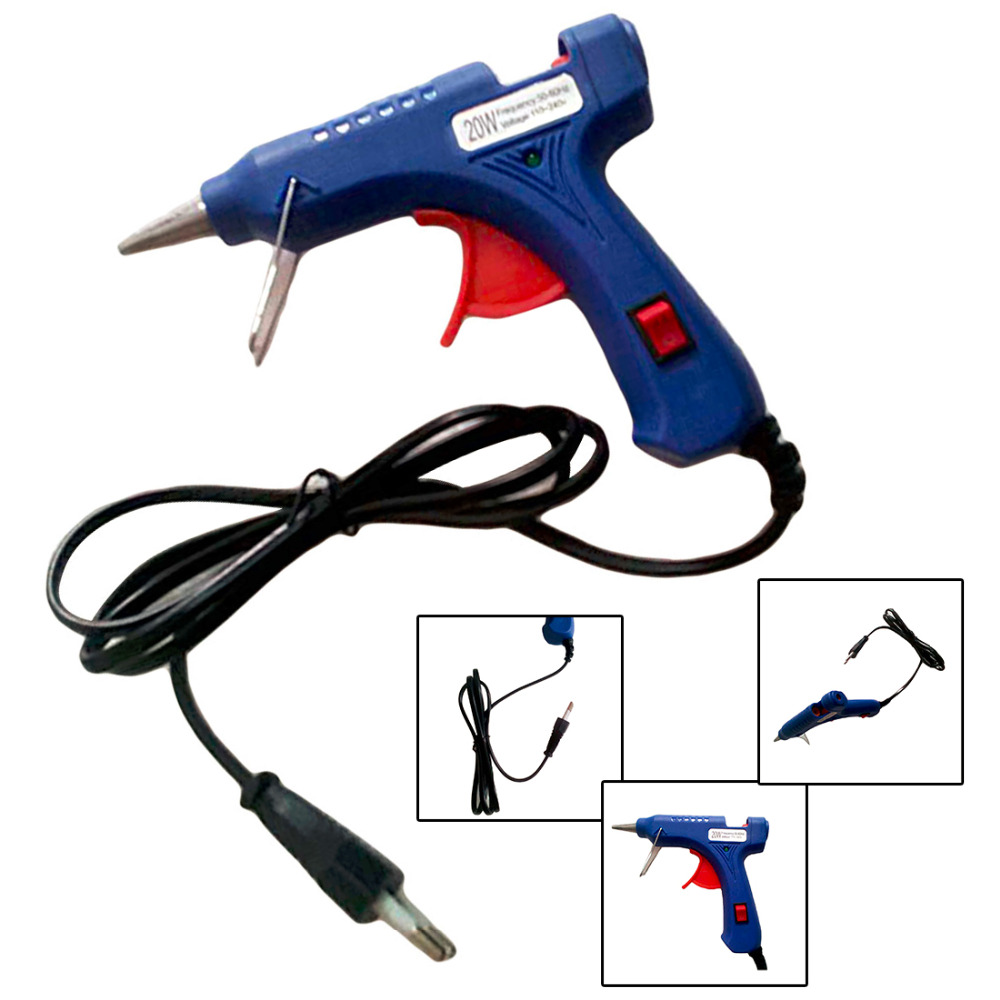 Hot Melt Glue Gun 20W EU Plug Industrial Mini Guns Thermo Electric Gluegun Heat Temperature Tool Graft Repair Tools
