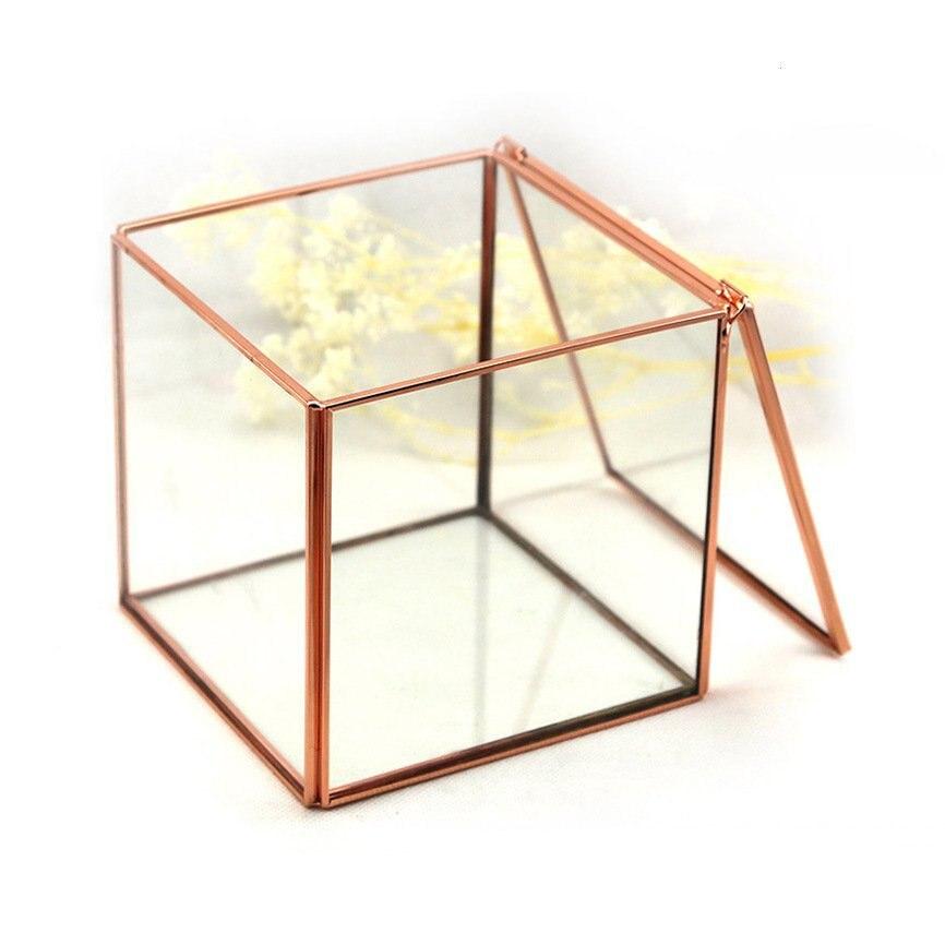 modern artistic clear glass cube box glass plant terrarium fashion square decorative votive candle tea light