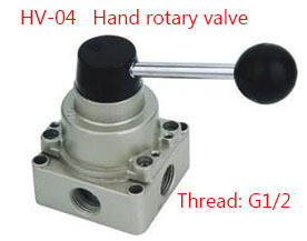 Free shipping HV-04 4 Port 3 Position 1/2 BSPT Hand Operated Pneumatic Valve Rotary Manual Control 5 port 2 position 3 8 bspt hand operated air valve hand return manual control 4r310 10
