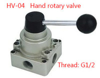 Free Shipping HV 04 4 Port 3 Position 1 2 BSPT Hand Operated Pneumatic Valve Rotary