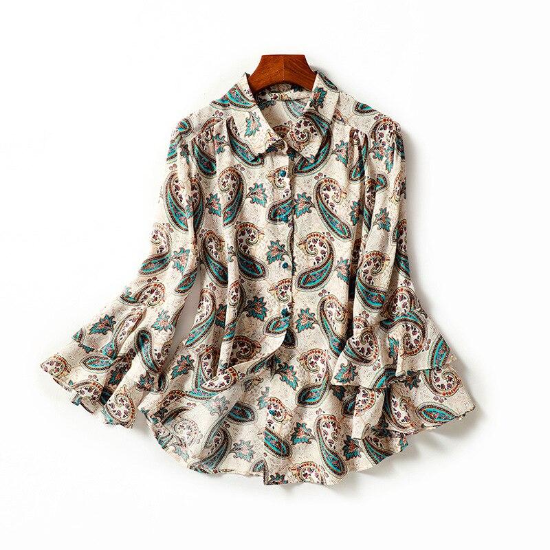 2019 Couches Photo Manches Qualité Dames Noir Chemises Papillon Vintage Supérieure Printemps Blouses 100 As En Nouveauté Double Nœud Soie Chemisier qnAxtwg7