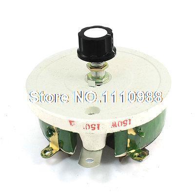 Wirewound Linear Rotary Resistor 150W 150 Ohm Ceramic Disk Rheostat 50w 1k ohm ceramic wirewound potentiometer volume control disk rheostat