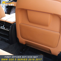 GELINSI Auto Car First officer Co pilot anti kick mat accessories For BMW G30 5 series 2018
