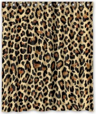 Modern Fashion Sexy Leopard Print Shower Curtain New Waterproof Polyester Fabric60