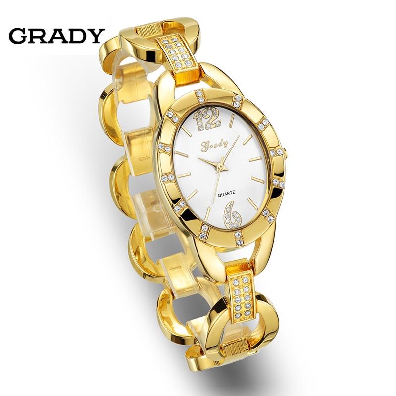 Grady Hot sale Free Shipping lady brand women fashion rhinestone watch Japanese quartz watch