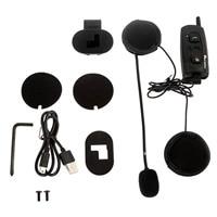 1x Moto Citofono del Casco Headset V2-1200 BT Interfono Senza Fili di Bluetooth Per Il Cellulare/MP3/GPS Impermeabile DSP Noise Ridurre