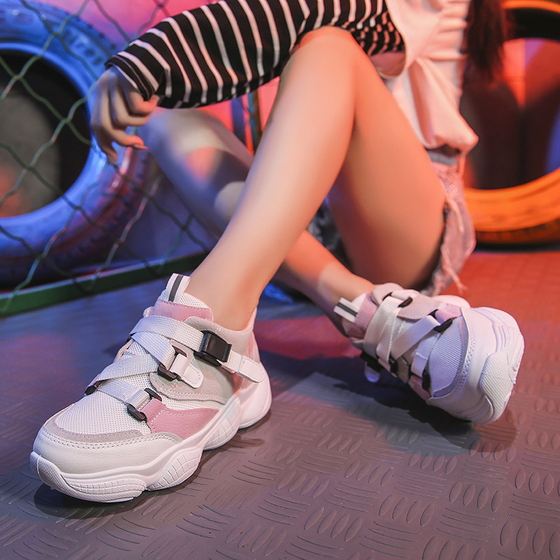 Été Épaisses Pour kaki Vulcaniser Chaussures Plate Vert Lacets Punk tied Femmes À Géométrique Croix forme Semelles rose Rome Sneakers Femelle 6wqZ7H