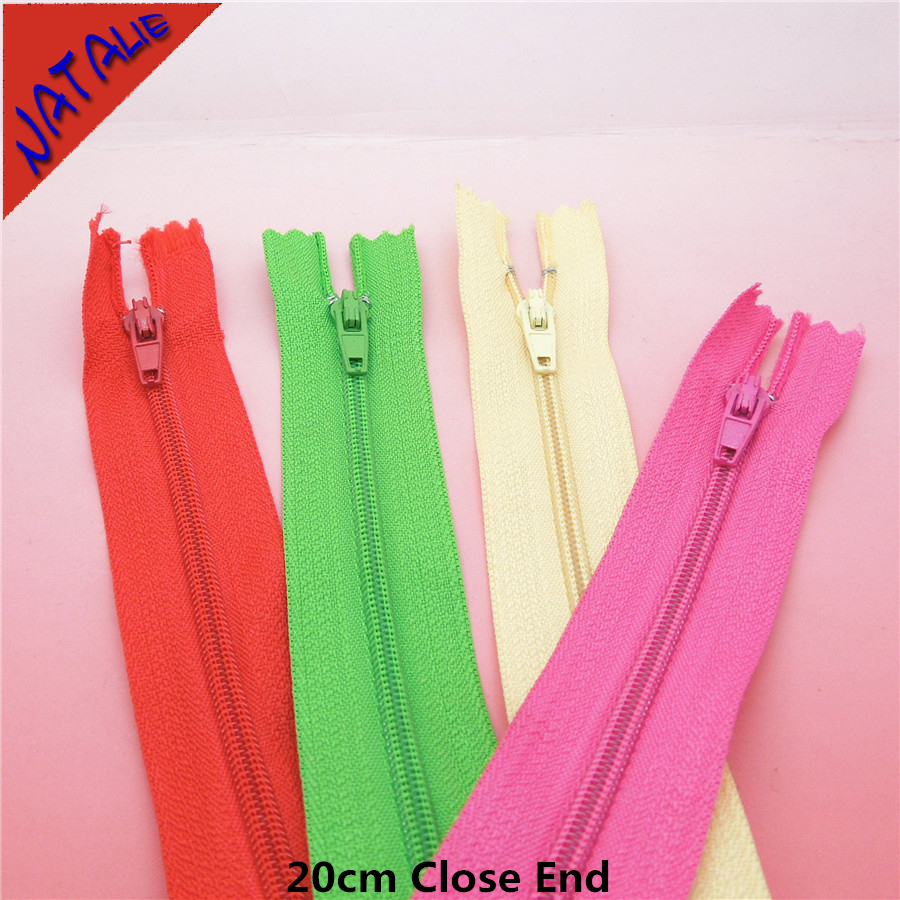 2017 Rushed Invisible Home Textile 10pcs/lot 20cm Close End Zippers For Sewing Manufacturers Direct Sales Nylon