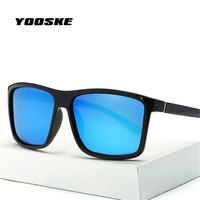 YOOSKE Brand Mens Polarized Sunglasses Special Driving Driver Sun glasses Women Vintage Rectangle Anti-UV Goggles Eyewear