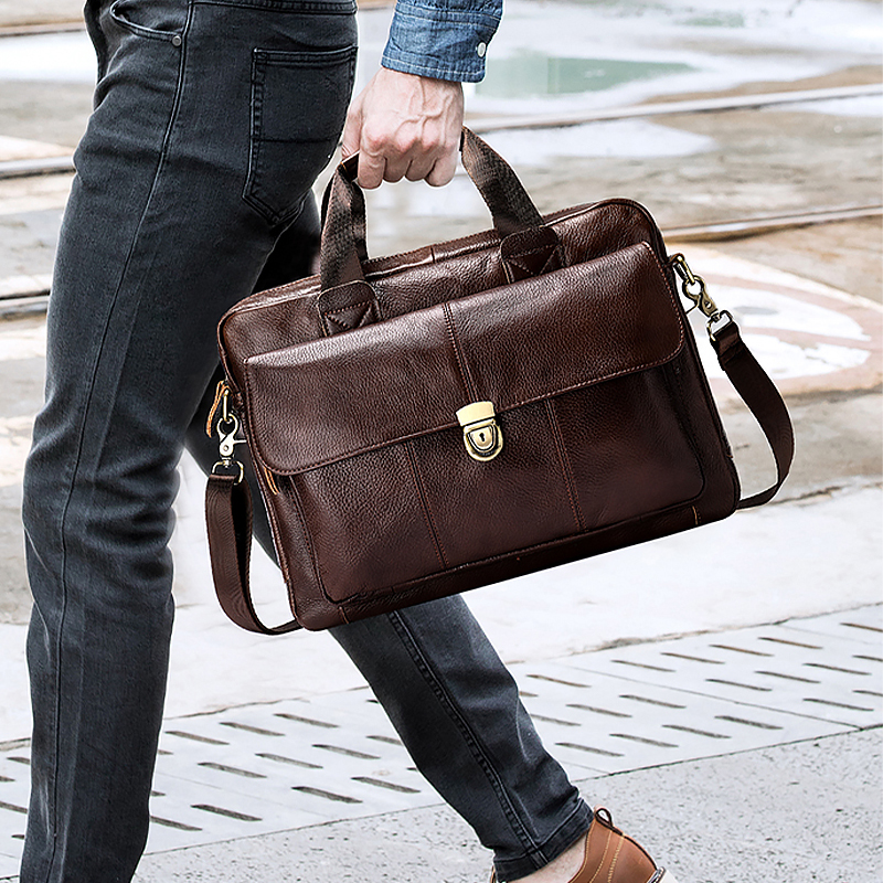 Image 3 - MVA mens briefcase bag mens genuine leather laptop bag business