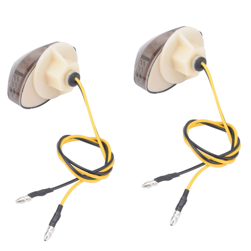 1 Pair Yellow LED Turn Signal Lights Front/Rear Flash Indicator With Snakeskin Design Smoke Len For Honda CBR600RR 03-12 CBR1000