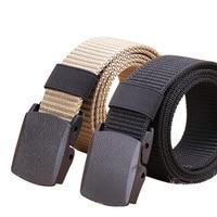 Cinturón táctico de nailon para hombre, cinturón militar con hebilla de plástico ajustable para exteriores, ligero, 2 paquetes, 2019