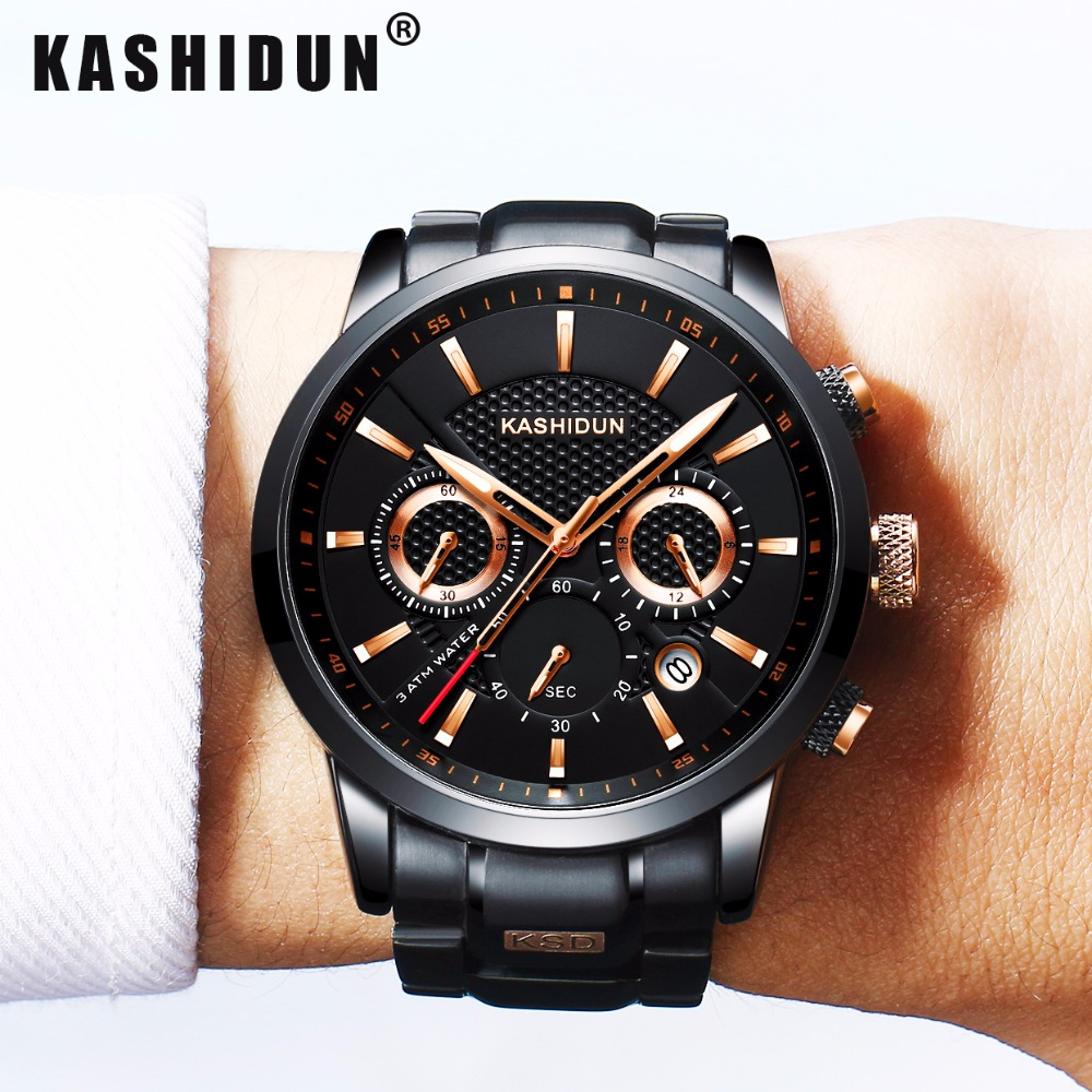 KASHIDUN Luxury Brand Mens Sports Watches Waterproof Military Watch Men Fashion Casual Japanese Quartz Wristwatches Hot Clock weide new men quartz casual watch army military sports watch waterproof back light men watches alarm clock multiple time zone