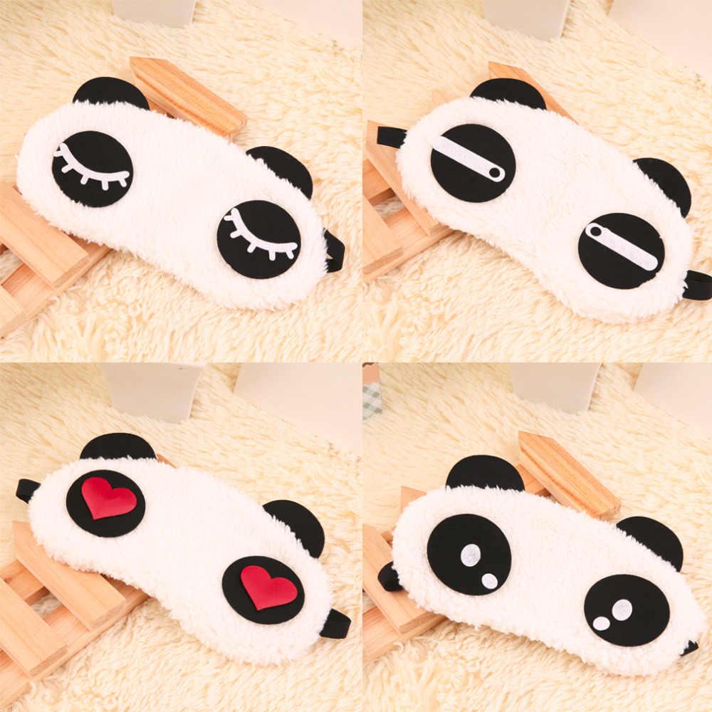 Панда спящий глаз маска на лицо повязка для глаз милый 4 узора Eyemask белый хлопок + резинка 2018 Большая распродажа подарок