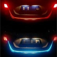 JURUS 120CM/150CM Amber Turn Signal Light Flowing Trunk Lamp Led Strip 12V Daytime Running Braking Warning Lights For Cars