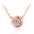 Clásico Collar de Bodas de Diamante Para Las Mujeres 0.4CT Moissanite Laboratorio Crecido Diamond Bisel Brillante de Plata de ley 925 Colgante de Cadena
