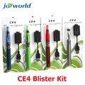5 unids cigarro electrónico ce4 clearomizer ego kit blister ce4 ego cigarrillo electrónico kit de iniciación al por mayor distribuidores (MM)