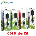 5pcs electronic cigar ce4 clearomizer ego ce4 blister kit electronic cigarette  ego starter kit wholesale distributors (MM)