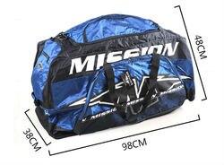 Бесплатная доставка сумка для оснащения для хоккея на льду сумка для снаряжения большой размер синий цвет 98x48x38 см