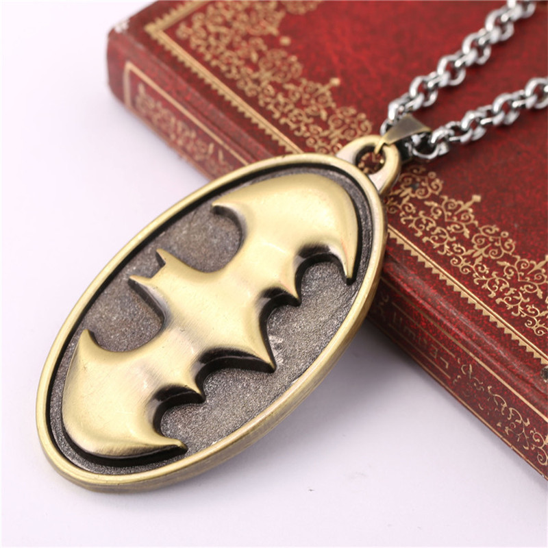 ORP Movie peripheral products accessories jewelry Batman Logo necklace Justice messenger pendant necklace wholesale