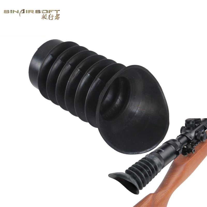 Protector Ocular de goma suave SINAIRSOFT de alta calidad de 38mm Flexible para Rifle de caza