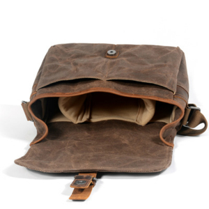 Image 5 - Retro Waterproof Camera Bag Photography Packages DSLR Shoulder Sling Case for Sony Nikon Canon Canvas Micro Single Messenger Men
