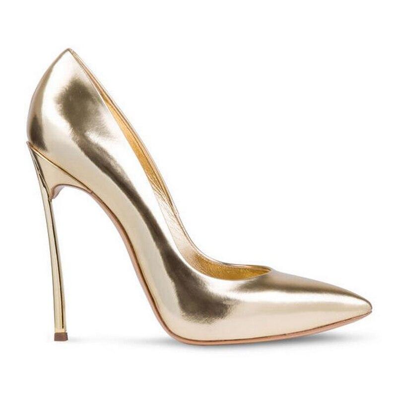 Dames 35 Chaussures Bout Mince Sexy Noir jaune Taille noir Parti nu Femmes Hauts Pompes Classique Pointu Et or Beige Mariage 43 argent rose Femme De orange Talons Grande PT8f5q8