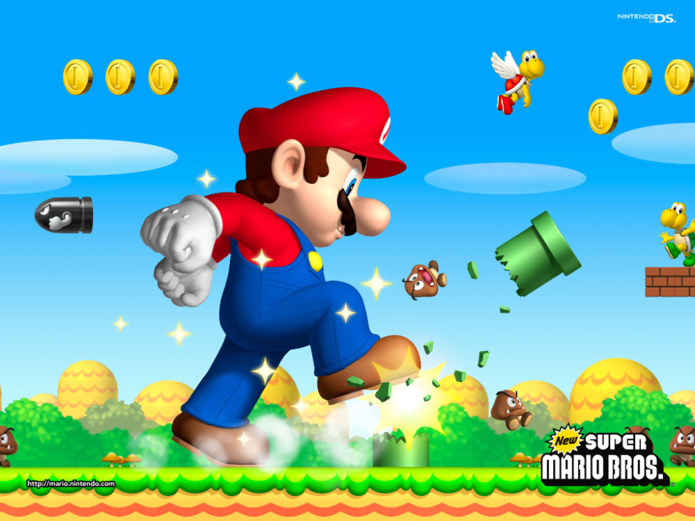 Free Shipping Game Super Mario Fashion Bedroom Decoration Wallpaper Custom Poster Well Design Wall Sticker