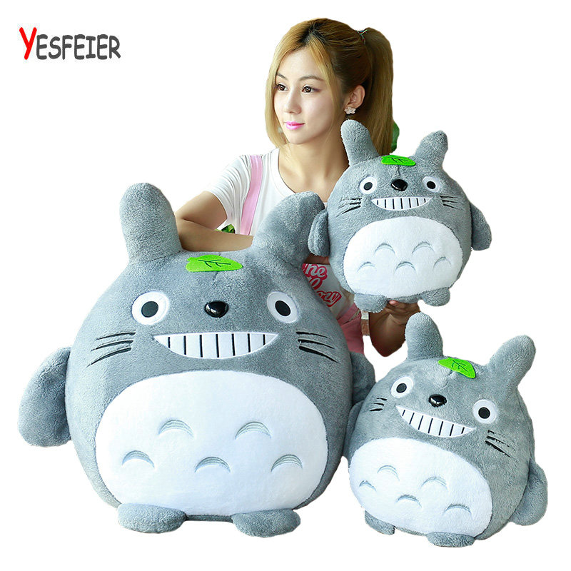 Yesfeier soft winter hand warm stuffed plush PP Cotton totoro doll pillow cushion birthday gift 20-60cm Cute totoro plush toys hot sale 60cm famous cartoon totoro plush toys smiling soft stuffed toys high quality dolls factory price in stock