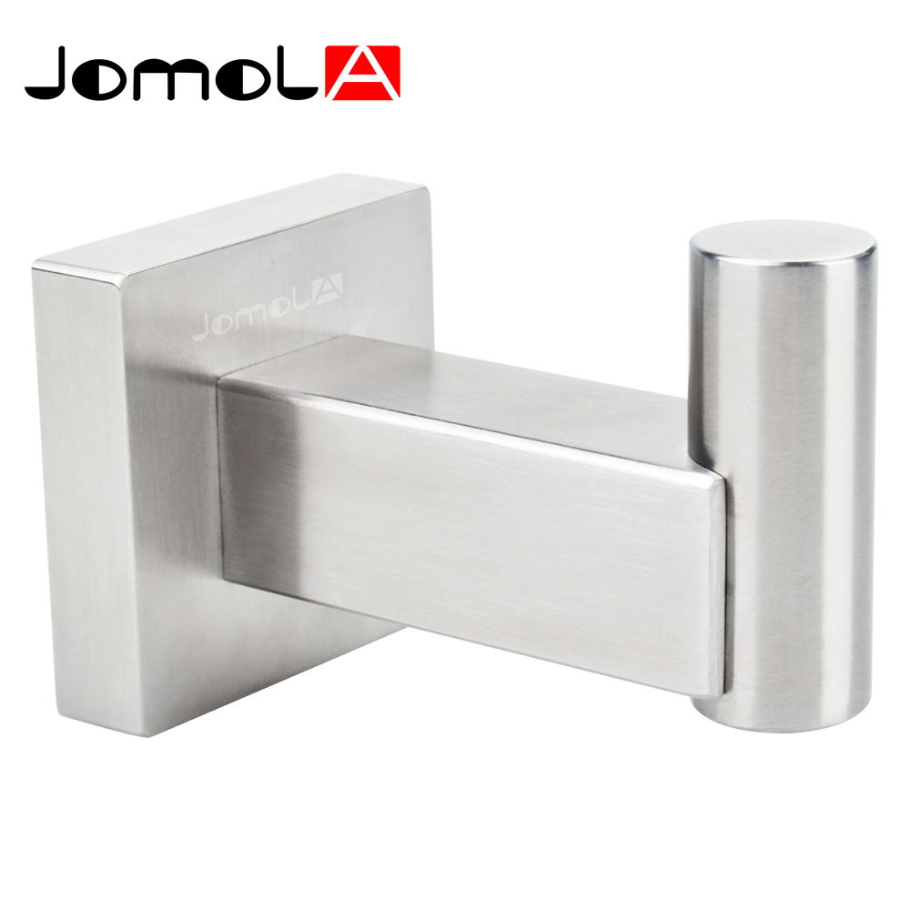 stainless steel wall hooks promotionshop for promotional  - bathroom single coat and robe hook sus stainless steel wall mountbrushed finishjomola