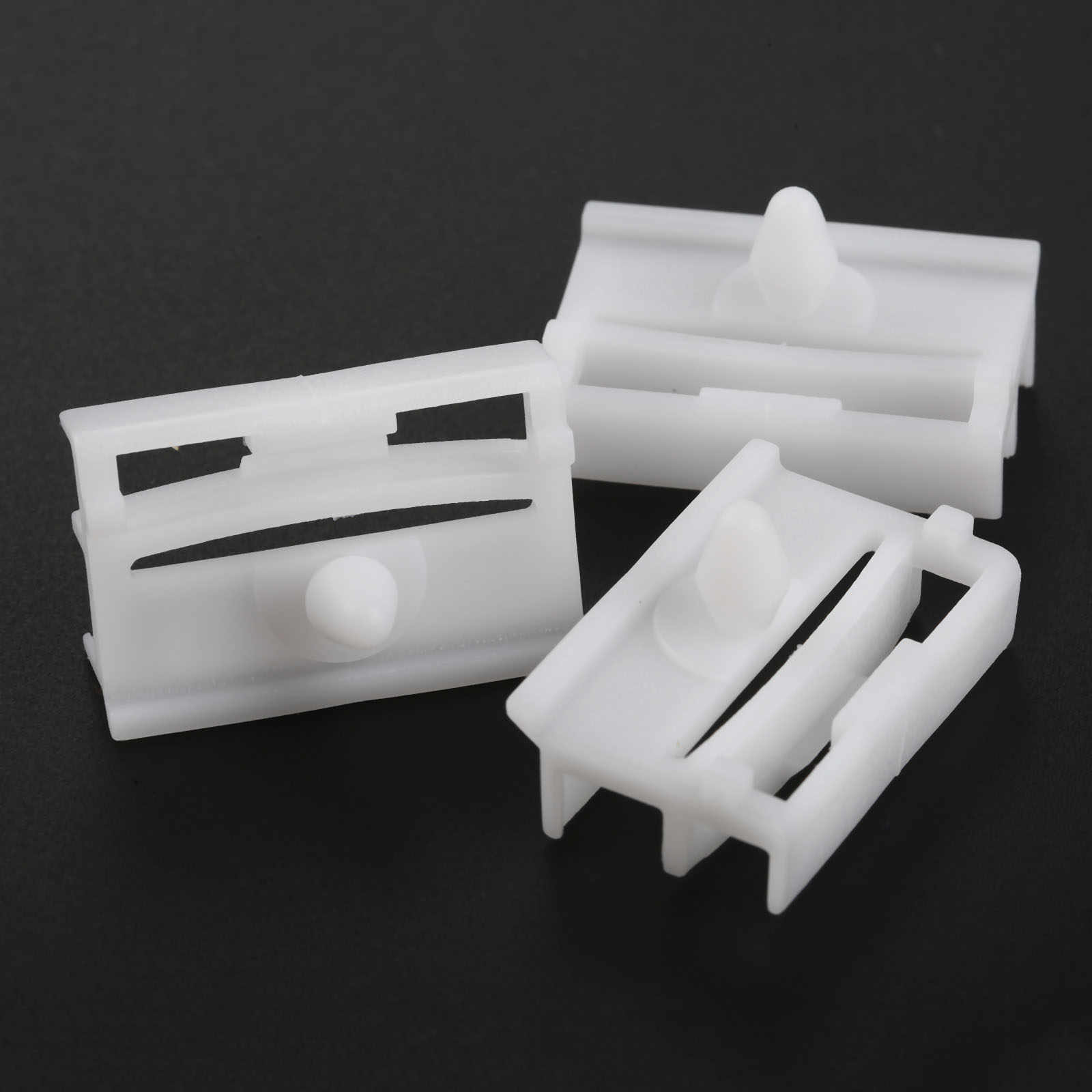 10Pcs Sill Samping Rok Moulding Klip Door Trim Panel Pengikat Klip 51718184574 untuk BMW E36 E46 Mobil Plastik Paku Keling mobil