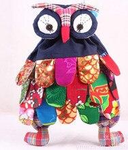 5pcs/lot New wholesale fashion backpack Handmade OWL Bag craft owl Children bag School Gift