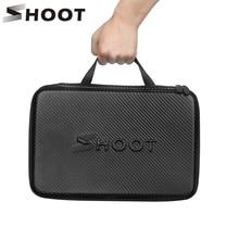 SHOOT PU Portable Waterproof Storage Box for Gopro 9 8 7 5 Yi 4K Sjcam SJ8 Pro Eken H9 Action Camera Carrying Case Accessory
