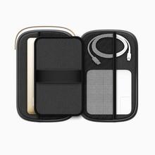 1PC canvas shockproof portable waterproof storage box data cable mobile phone hard disk headphone U disk earphone organizer bag недорого
