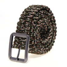 High Quality Survival 550 Paracord Belt  Hand Braided Colors Men Fashion Belt Buckle