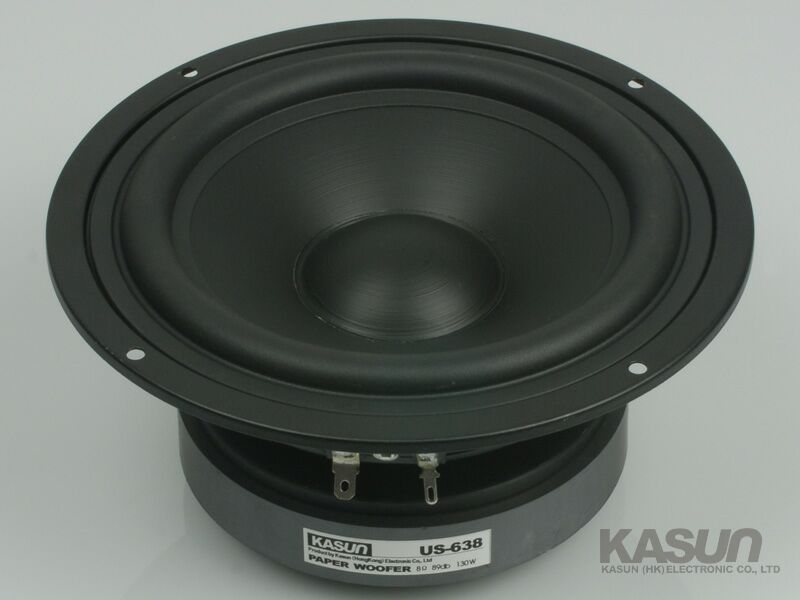 2PCS KASUN US-638 6.5'' Paper Woofer Speaker PP Cone Unit 8ohm/130W Max Diameter 178mm Fs 39Hz 2pcs kasun qa 8100 8inch woofer speaker driver unit paper cone 8ohm 140w dia 218mm fs 45hz