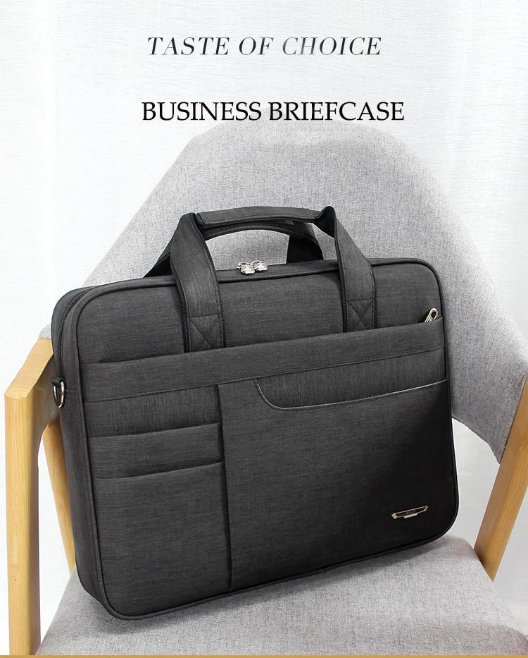 HTB1Q4g.bgmH3KVjSZKzq6z2OXXah Brand Waterproof Men Women 14 15.6 inch Laptop Briefcase Business Handbag for Men Large Capacity Messenger Shoulder Bag