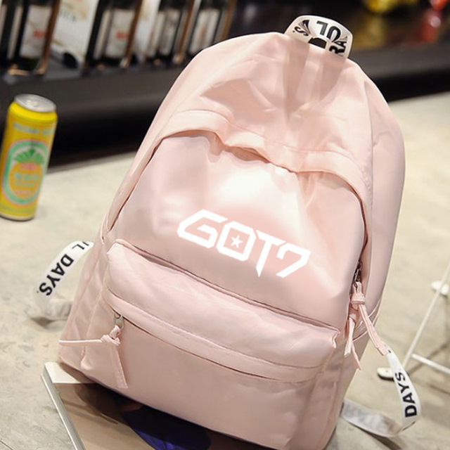 8f02816a2cc7 kpop GOT7 same paragraph Student bag Korean canvas backpack Female Small  fresh backpack student backpack 2018 new