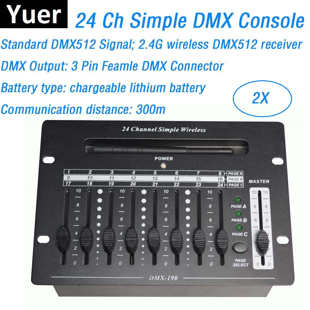 24 Channel Wireless DMX Controller Stage Lighting Dj Equipments DMX Console For LED Par Moving Head Spotlights Dj Controller children s recurve bow