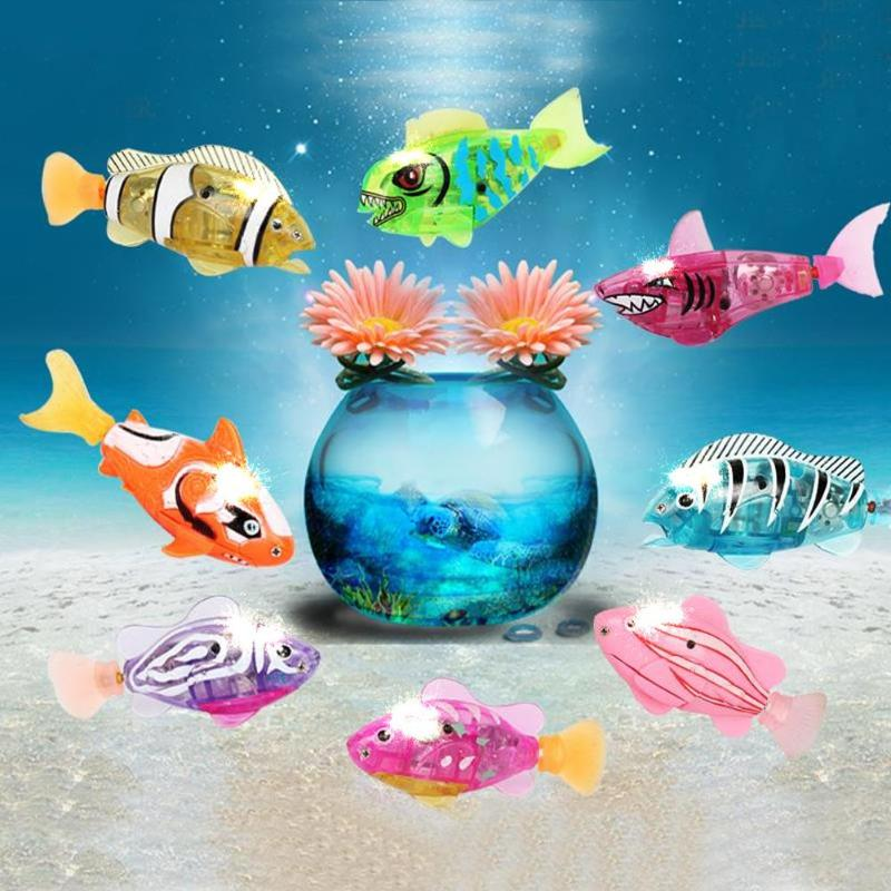 Electronic Baby Bath Toy Robot Swimming Animals Fish Water Toys Battery Electric Induction Floating Robot Fish Toys For Children