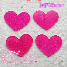 acrylic shiny rose heart Cabochon Flat back Scrapbooking free shipping 50pcs/lot 30*25mm