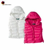 New Children Clothing Girls Spring Fall Winter Casul Solid Vest Thick Quality Vest Baby Zipper Waistcoat