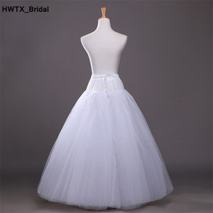 Image 5 - ร้อน Tulle กระโปรง Slip อุปกรณ์จัดงานแต่งงาน 2018 เจ้าสาว Chemise ไม่มีห่วงแต่งงาน Petticoat Crinoline