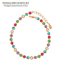 Neoglory Multi Colorful Beads Bangles & Bracelets Fashion Statement Jewelry Brand Girl Mother Gift 2020 New Hot Colf(China)