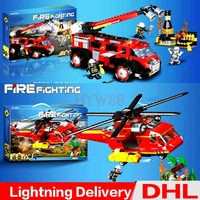 XINGBAO 14004 Forest Disaster Relief XINGBAO 14005 Industrial Fire Car Set Kids Building Blocks Model lepining Toys Clone LP